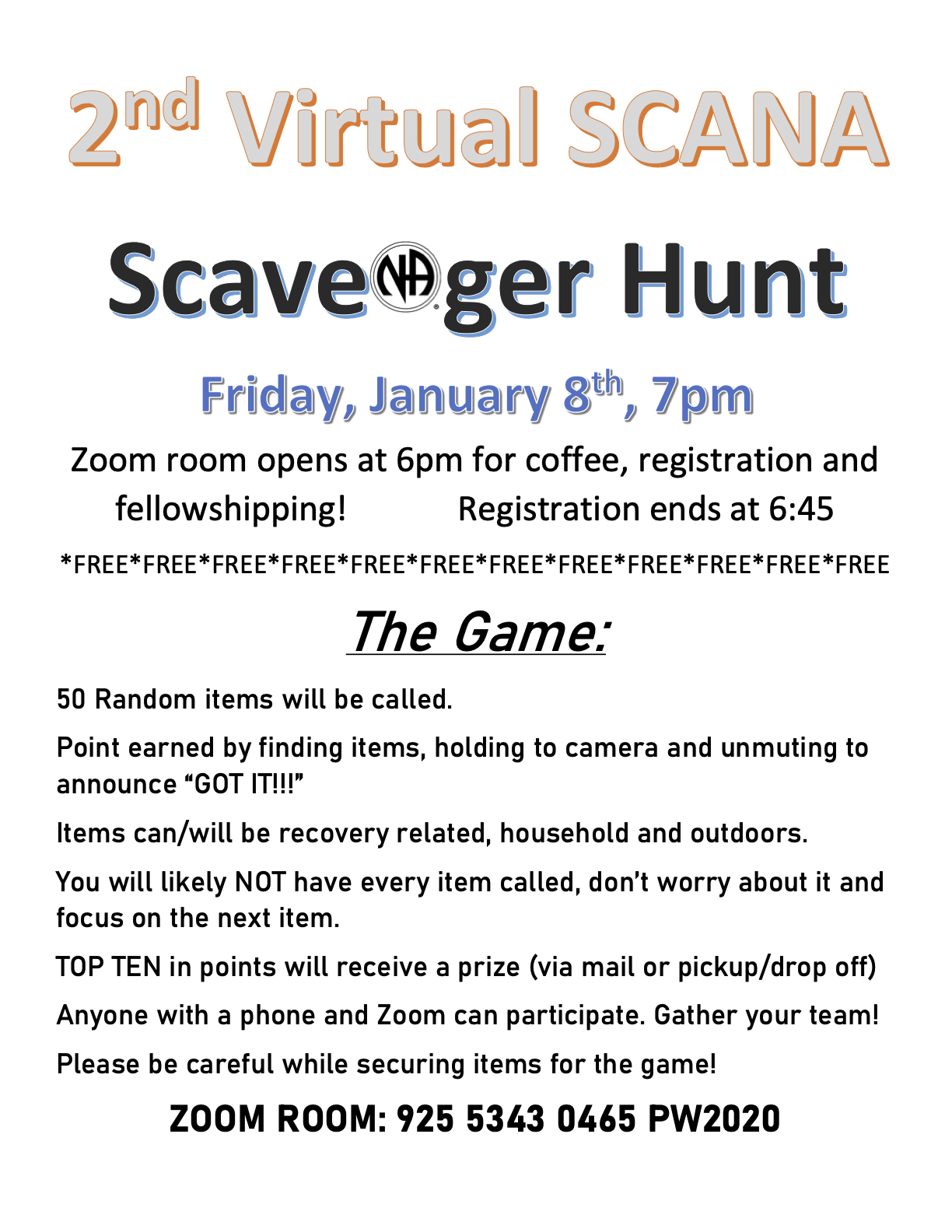 2nd Virtual Scavenger Hunt