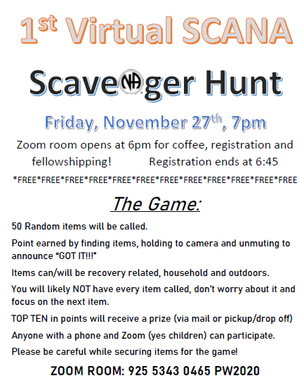 1st Virtual Scavenger Hunt