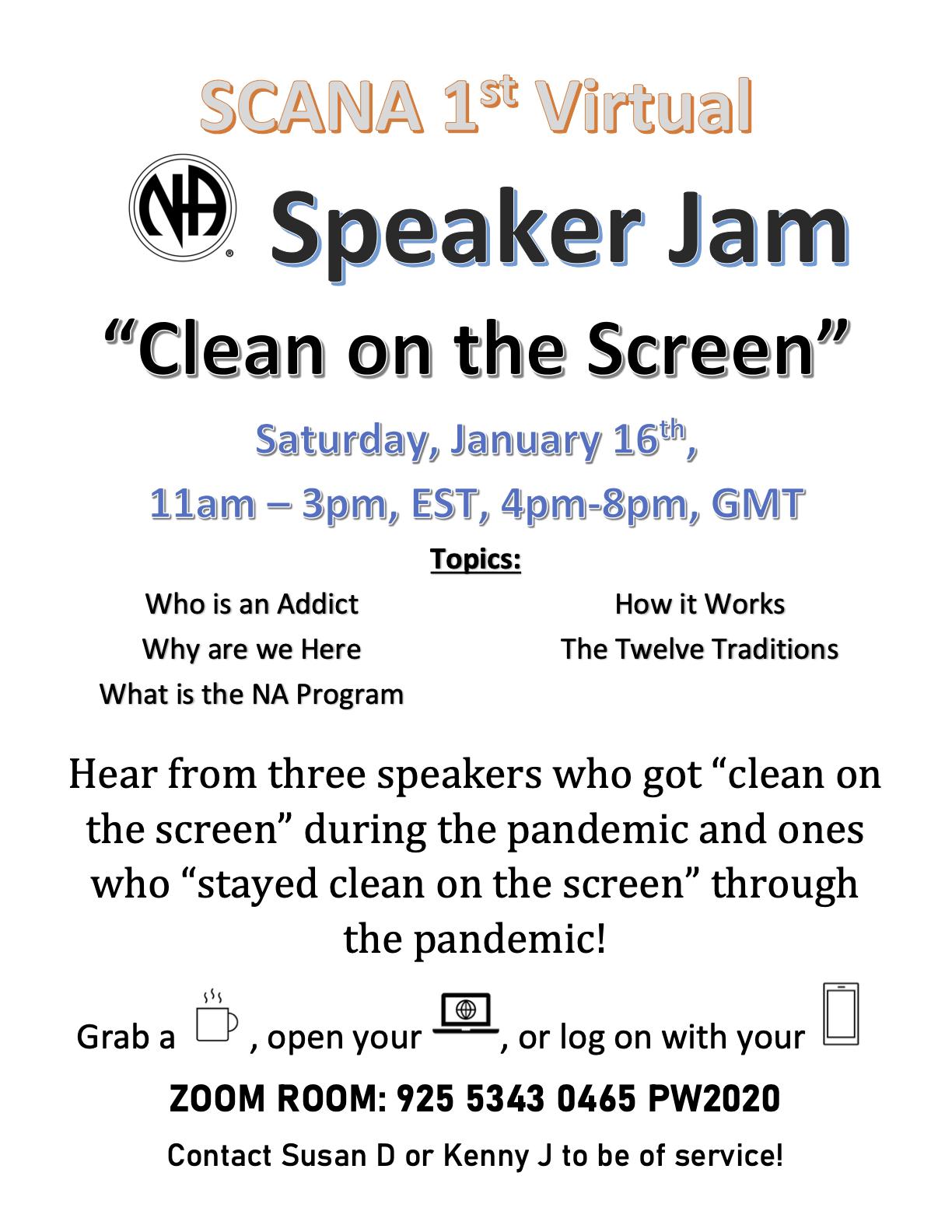 1st Virtual Speaker Jam - SCANA